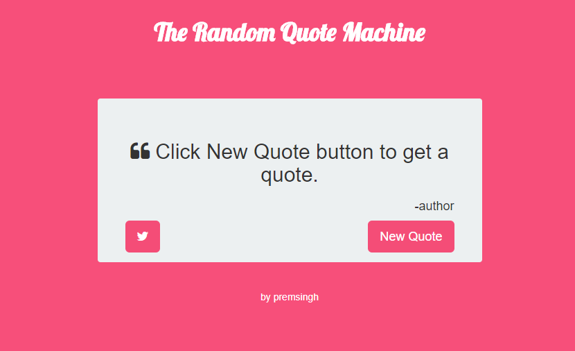 HowToCoder - Building Freecodecamp Random Quote Machine