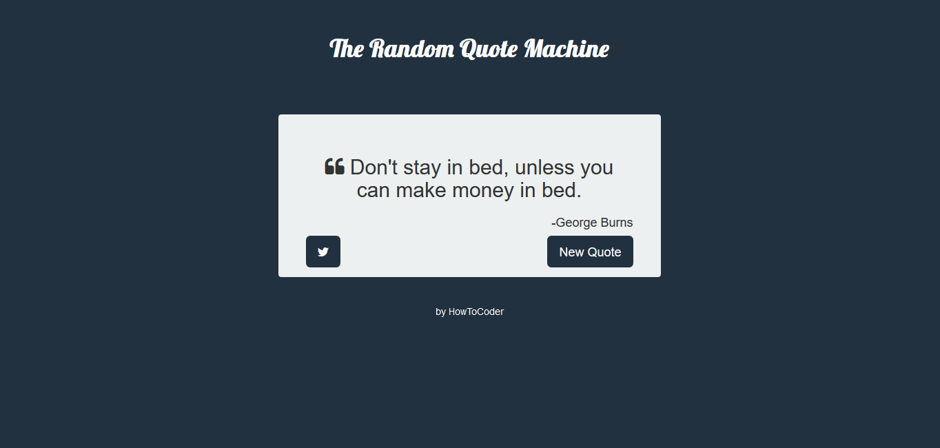 freecodecamp Random Quote Machine Project