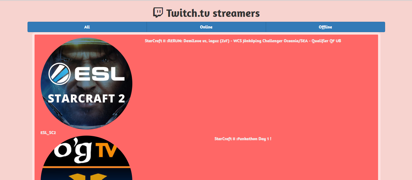 HowToCoder - Building Freecodecamp Twitch Tv App HowToCoder